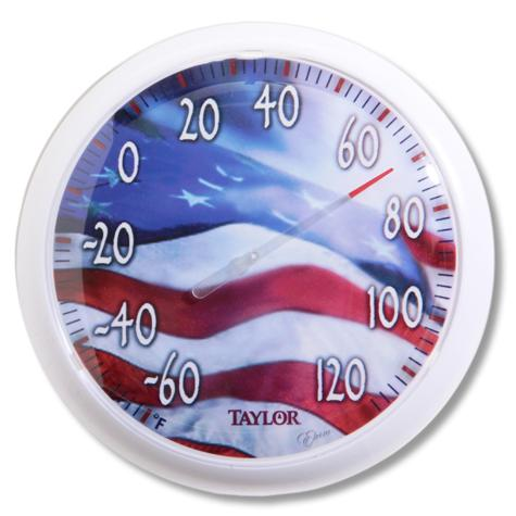 American Flag Thermometer