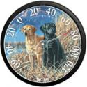 Black and Yellow Labrador Thermometer